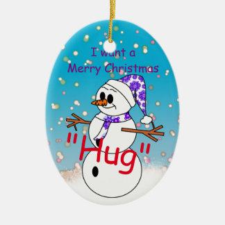 Merry Christmas Hug Christmas Ornament