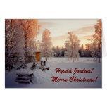 Merry Christmas! Hyvää Joulua! Greeting Cards