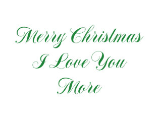 Merry Christmas I Love You.Merry I Love You Christmas Tree Decorations Ornaments