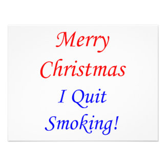 Merry Christmas I Quit Smoking Personalized Announcement