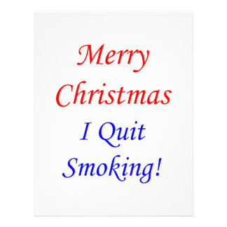 Merry Christmas I Quit Smoking Personalized Flyer