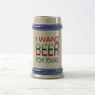 merry christmas i want beer christmas mug design