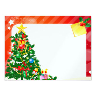 Merry Christmas illustration Personalized Announcement