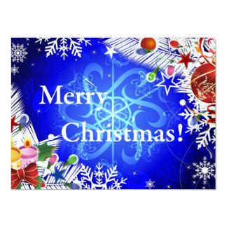 Merry Christmas illustration Custom Invites