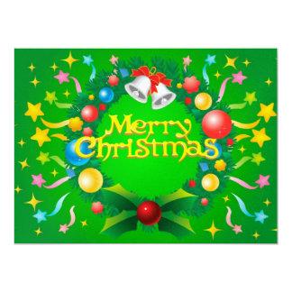 Merry Christmas illustration Custom Invitation