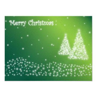 Merry Christmas illustration 17 Cm X 22 Cm Invitation Card