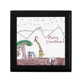 Merry Christmas in Africa Small Square Gift Box