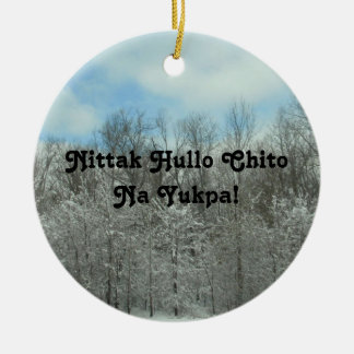 Merry Christmas in Choctaw Christmas Ornament