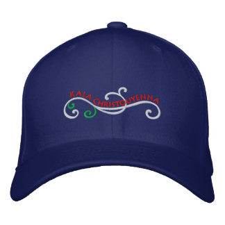 Merry Christmas in Greek! Embroidered Hat