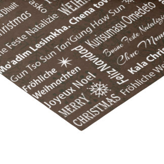 Merry Christmas in Other Languages Tissue Paper