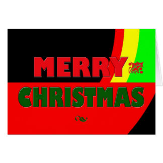 Merry Christmas in Rasta Colors Note Card