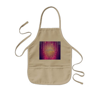 Merry christmas in soft pink kids apron