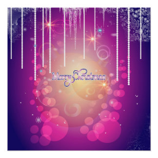 Merry christmas in soft pink perfect poster