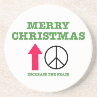 Merry Christmas (increase the peace) Beverage Coasters