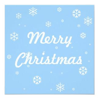 "Merry Christmas * 5.25"" Square Invitation Card"