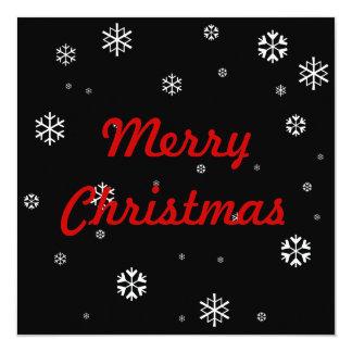 Merry Christmas * 13 Cm X 13 Cm Square Invitation Card