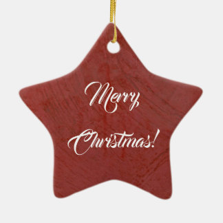 Merry Christmas! Italian Red Venetian Plaster Christmas Ornament