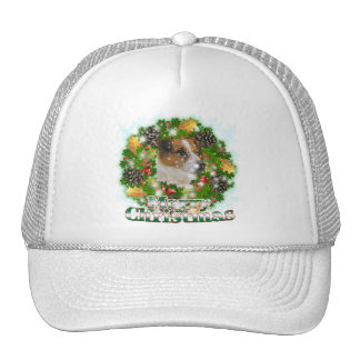 Merry Christmas Jack Russell Cap
