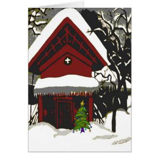 Merry Christmas Japanese Print Greeting Card