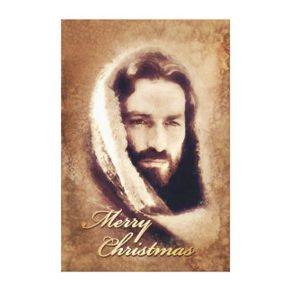 Merry Christmas Jesus Stretched Canvas Options Canvas Print