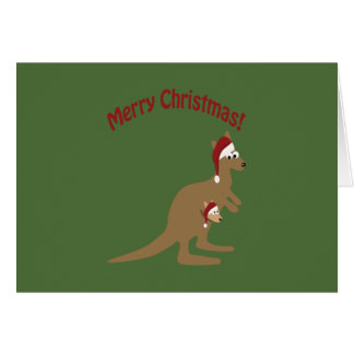 Merry Christmas Kangaroos Card