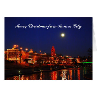 Merry Christmas Kansas City Full Moon Plaza Card