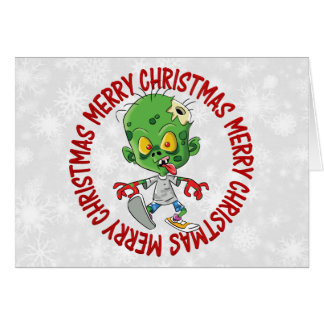 Merry Christmas Kid Zombie Cards