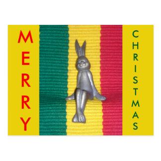 Merry Christmas Kingston Jamaica Glory Colors Postcard
