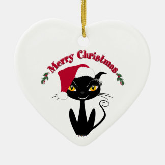 Merry Christmas Kitty Cat Christmas Ornament