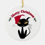 Merry Christmas Kitty Cat Christmas Ornaments