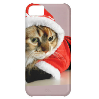 Merry Christmas kitty cat Santa suit iPhone 5C Case
