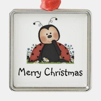 Merry Christmas Ladybug Christmas Ornament