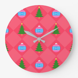 Merry Christmas Large Clock