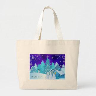 Merry Christmas Large Tote Bag