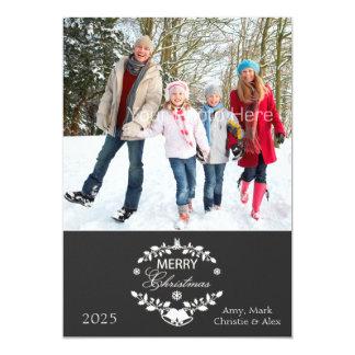 Merry Christmas Laurel 13 Cm X 18 Cm Invitation Card