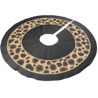 Merry Christmas Leopard Animal Prints Brushed Polyester Tree Skirt