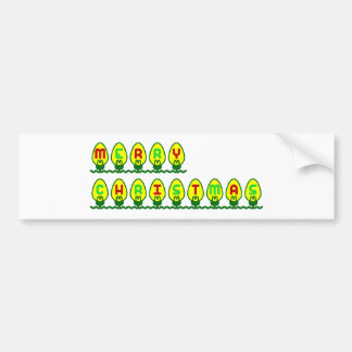 Merry Christmas Lights Bumper Sticker