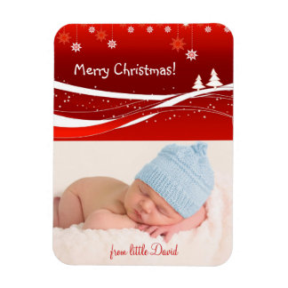 Merry Christmas lovely gifts Rectangular Photo Magnet