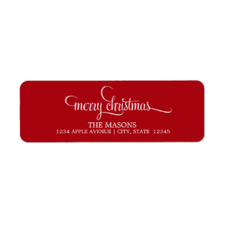 Merry Christmas Lowercase Script | Red