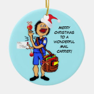 Merry Christmas Mail Carrier Christmas Ornament