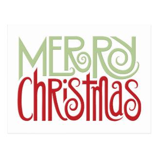 Merry Christmas margarita green Postcard
