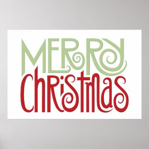 Merry Christmas margarita green Poster