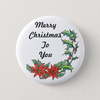 Merry Christmas Message Button pin Badge