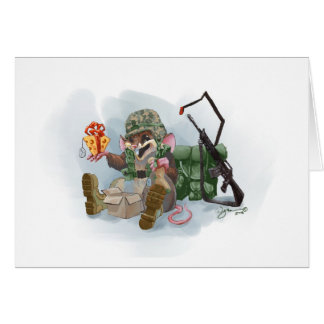 Merry Christmas military mouse Card