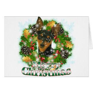 Merry Christmas Min Pin Card