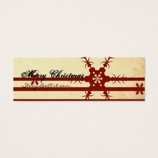 Merry Christmas Mini Business Cards (Customizable)