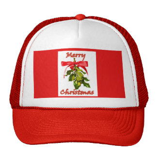merry christmas mistletoe cap