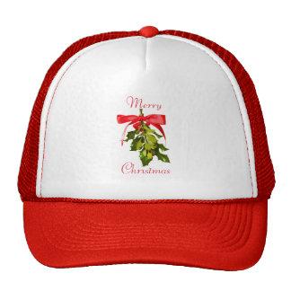 Merry Christmas mistletoe Cap