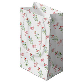 Merry Christmas Mistletoe Gift Bag