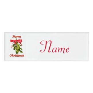 Christmas name tags badges zazzlecouk for Christmas name badges